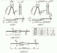 NTC (negative temperature coefficient) thermistor