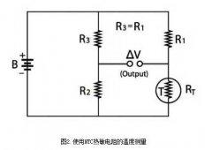 Ntc thermistor temperature protection applied to simple DC bridge circuit design