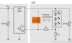 Application of NTC thermistor temperature measurement in circuit diagram of LED lighting system