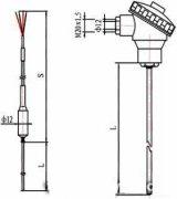 Armoured thermocouple sensor for boiler and furnace wall